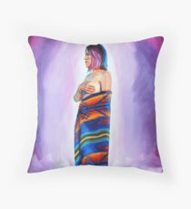 Purple Planets, Connection Throw Pillow