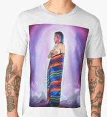 Purple Planets, Connection Men's Premium T-Shirt