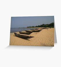Kribi Dugouts Greeting Card