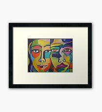 male/female Framed Print