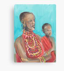 Masaai Mutter und Kind Leinwanddruck