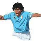 Diego Maradona - Napoli Captain by SerieAFFC