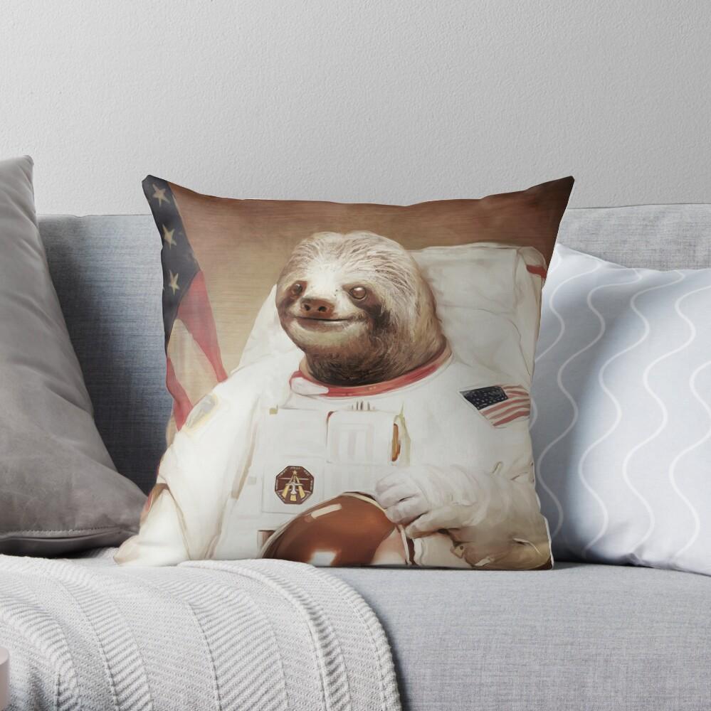 Astronauta Sloth Cojín