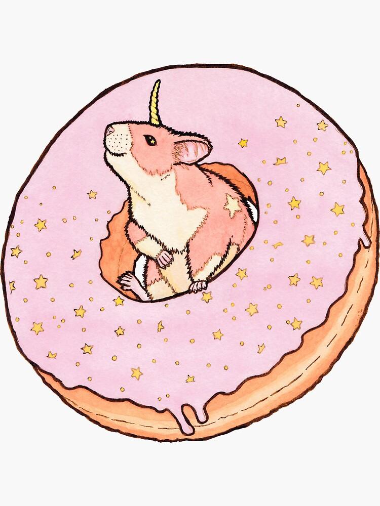 Sweet Fantasy Unicorn Hamster de MarinaPrints