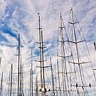 Man between masts .2 by Alex Preiss