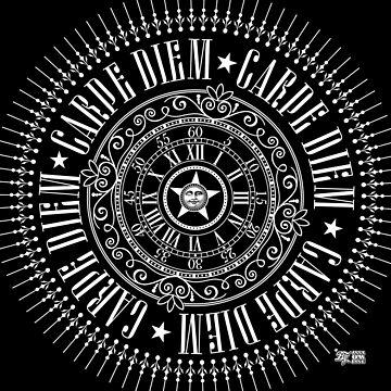 CARPE DIEM TOTE BAGS + PILLOWS + CLOCK by annaOMline