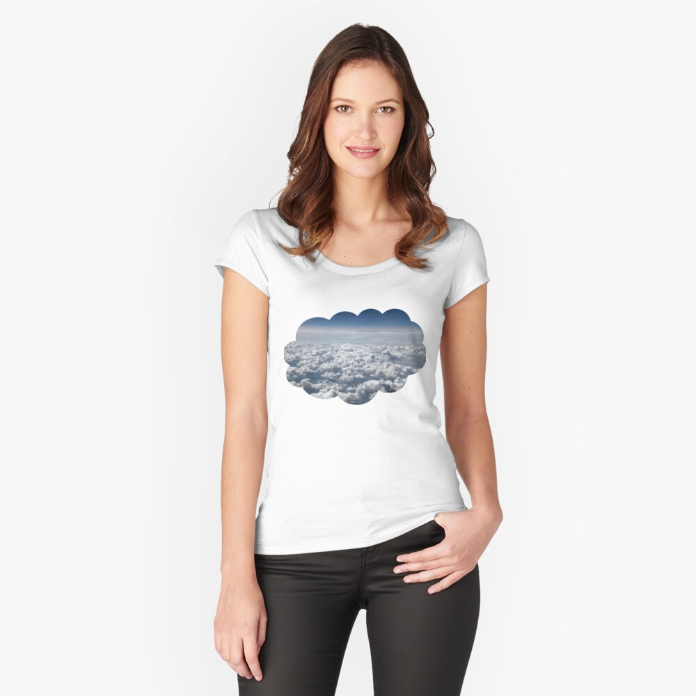 Clouds Fitted Scoop T-Shirt