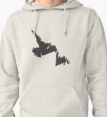 Newfoundland and Labrador Love in Charcoal Pullover Hoodie