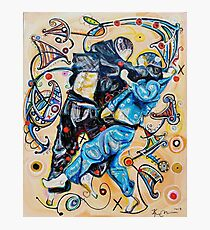 Jitsu-Blue - Original Painting BJJ Art By Kim Dean Photographic Print