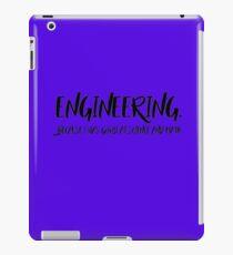 Engineering. iPad Case/Skin