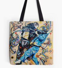 Jitsu-Blue - Original Painting BJJ Art By Kim Dean Tote Bag
