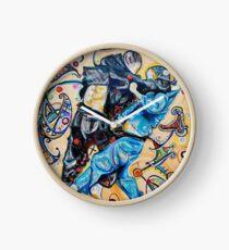 Jitsu-Blue - Original Painting BJJ Art By Kim Dean Clock