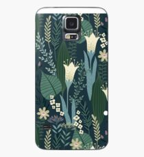 Wonderful Mid-Century Style Evening Lily And Wildflower Pattern  Case/Skin for Samsung Galaxy