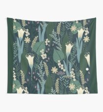 Wonderful Mid-Century Style Evening Lily And Wildflower Pattern  Tapestry