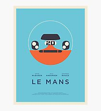 Le Mans Movie Gulf - Layout A Border Photographic Print