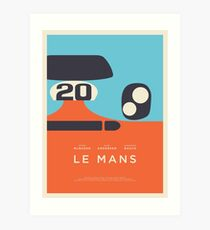 Le Mans Movie Gulf - Layout C Border Art Print