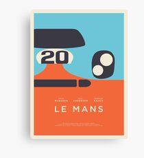 Le Mans Movie Gulf - Layout C Border Canvas Print