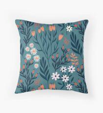 Beautiful Springtime Garden Daisy And Tulip Pattern Throw Pillow