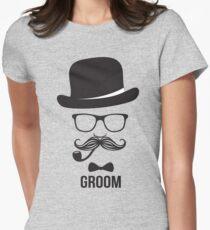Mens Groom Wedding T-shirt Women's Fitted T-Shirt