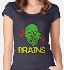 BRAINS! Women's Fitted Scoop T-Shirt
