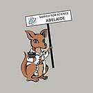 March for Science Adelaide – Kangaroo, full color by sciencemarchau