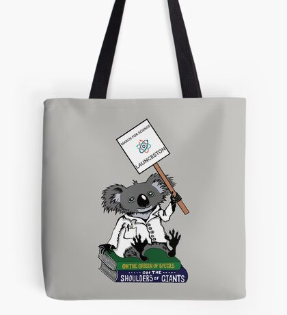 March for Science Launceston – Koala, full color Tote Bag