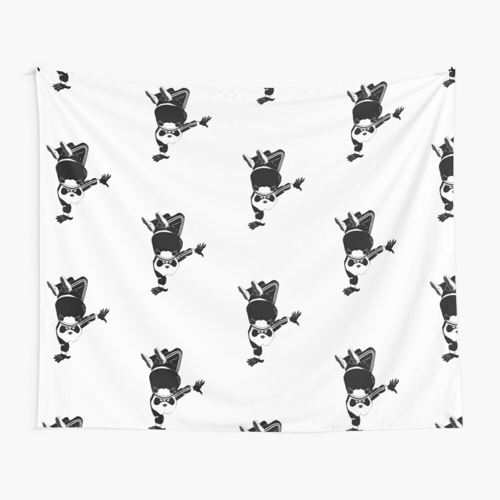 Breakdancin' Panda Wall Tapestry
