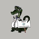 March for Science Perth – Crocodile, full color by sciencemarchau