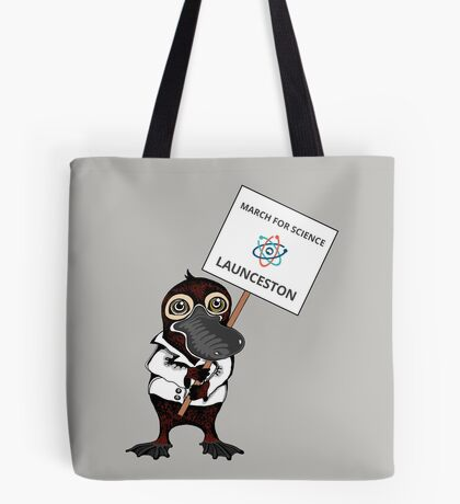 March for Science Launceston – Platypus, full color Tote Bag