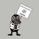 March for Science Cairns – Platypus, full color by sciencemarchau