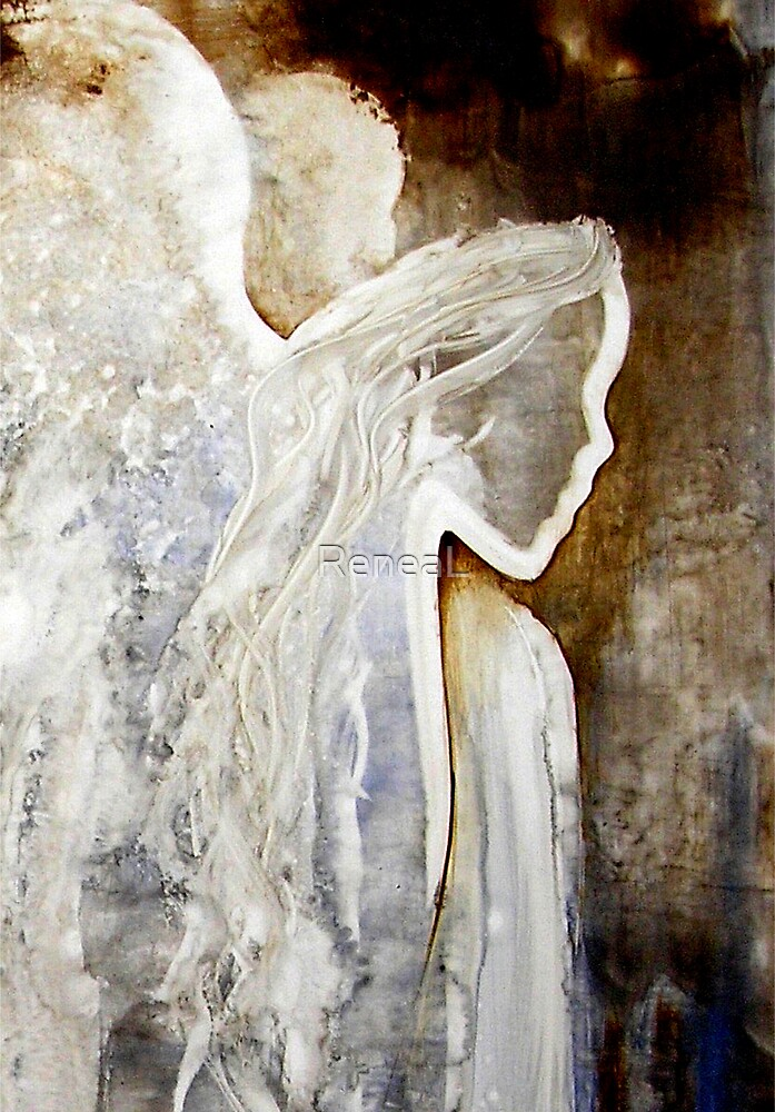 En1018 angel painting by reneal redbubble for Angel paintings for sale