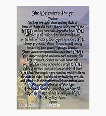 The Defender's Prayer - Air Force Veterans  Photographic Print