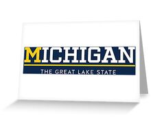 Michigan the great lake state wall tapestries by chocodole greeting card m4hsunfo