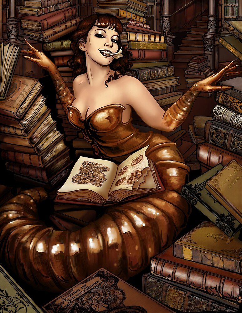 Bookworm Pinup by Lillian Ripley