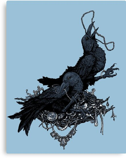Ravens and Their Shiny Things by Lillian Ripley