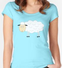 Sheep Character Women's Fitted Scoop T-Shirt