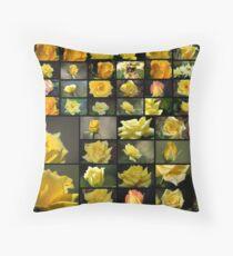 50 Yellow Roses Throw Pillow