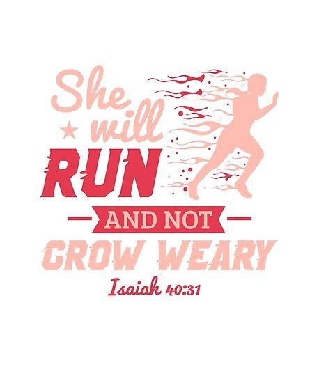 she will run and not grow weary cross country shirt cross