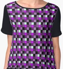Checker Blocks Pattern Chiffon Top