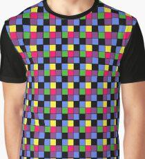 Checker Block Pattern Graphic T-Shirt