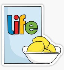 Pegatina Bueno, cuando la vida te da limones