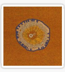 Growing - ginkgo - embroidery of plant cells Sticker