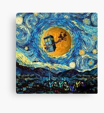4th Doctor Supermoon starry night Canvas Print