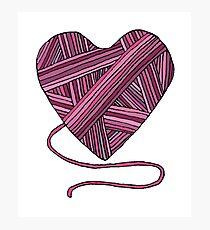 Yarn Heart Photographic Print