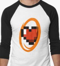 Portal Lover ! Orange Men's Baseball ¾ T-Shirt