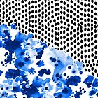 Monroe - India ink, indigo, dots, spots, print pattern, surface design by charlottewinter