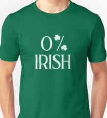 0% Irish St Patricks Day Funny Tshirt Unisex T-Shirt