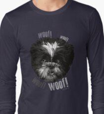 Shih-Tzu Says Woof! Woof! Long Sleeve T-Shirt