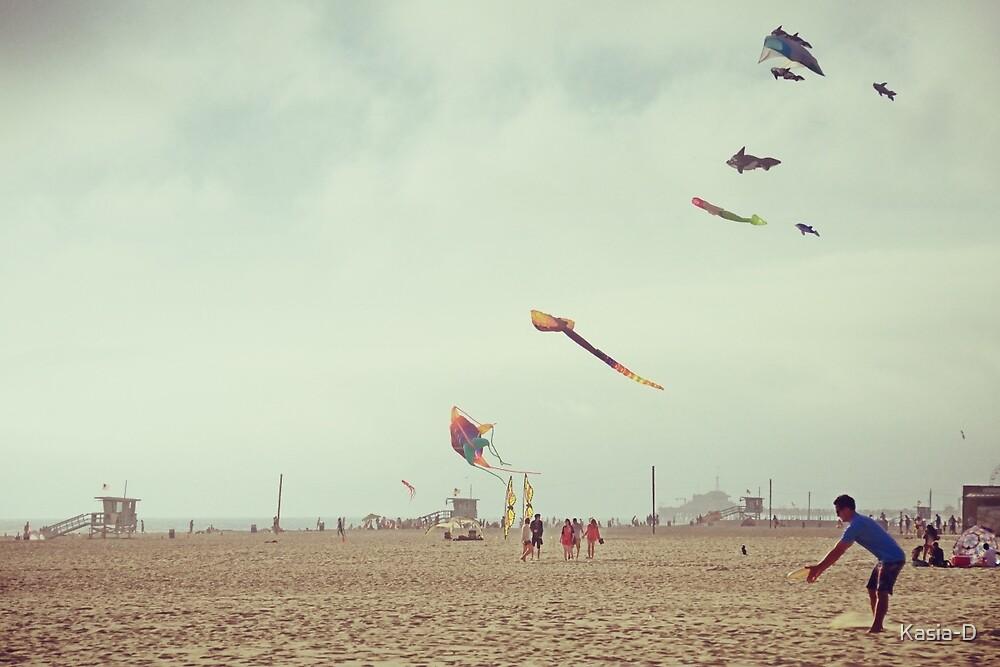 Sunday at Venice Beach - Frisbee by Kasia-D