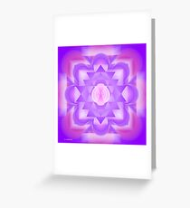 Crown Chakra Mandala/Sahasrara Greeting Card